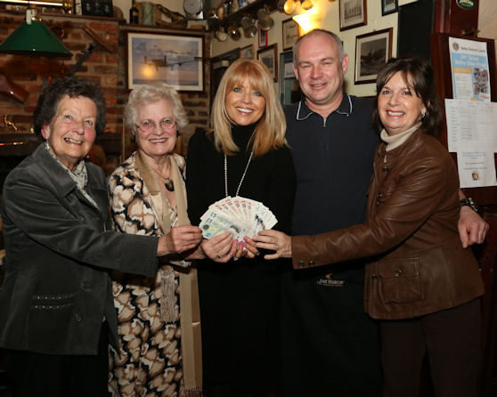 Burn cheque for Cancer Research2